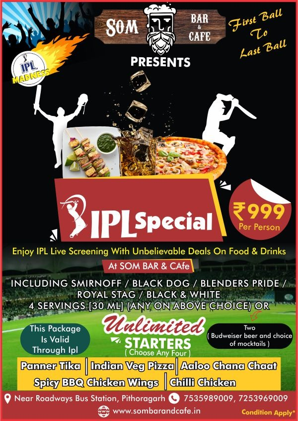 IPL special SOM BAR & CAFE