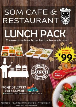 Lunch packs at pithoragarh in just Rs 99.